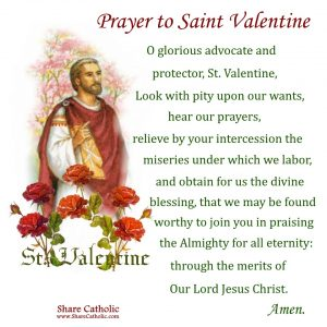 A Prayer to Saint Valentine