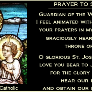 ST. JOSEPH NOVENA (Feast Day- March 19th)