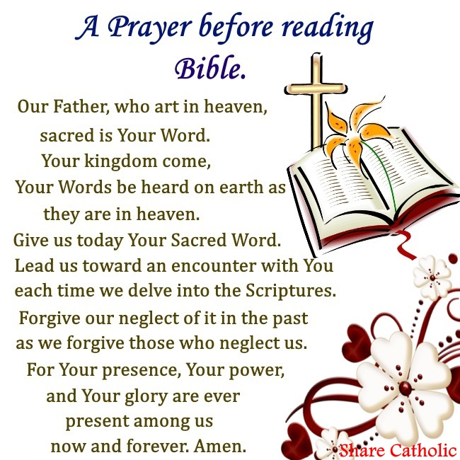 A prayer before reading Bible
