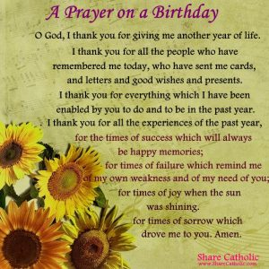 A Prayer on a Birthday