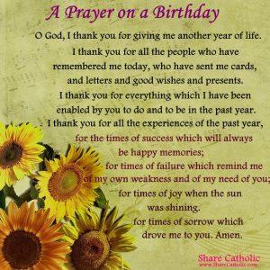 A Prayer on a Birthday