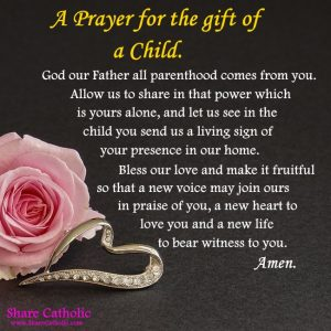 A Prayer for the gift of a Child