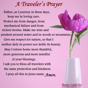 A Traveler's Prayer