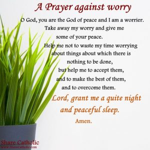 A Prayer against worry