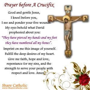 Prayer before A Crucifix