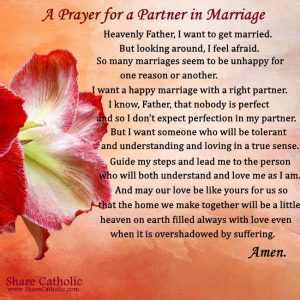 A Prayer for a Partner in Marriage