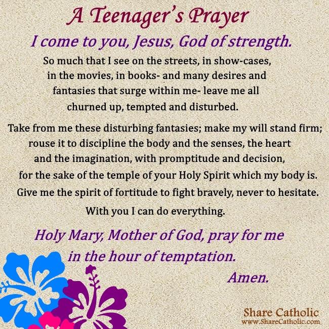 A Teenager's Prayer