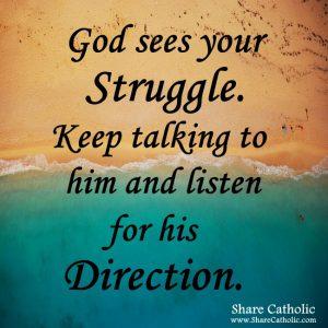 God sees your Struggle