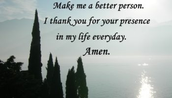 Thank you God for your presence in my life