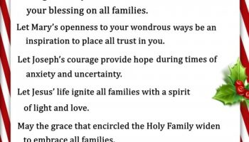 A Family Christmas Prayer