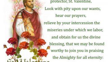A Prayer to Saint Valentine