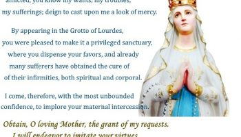 A Prayer to our Lady of Lourdes