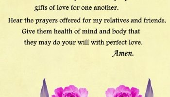 A prayer for Relatives & Friends