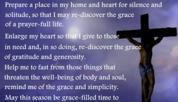 A Prayer for Lenten grace