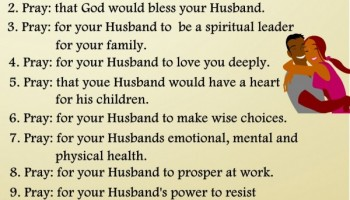 10 ways to pray for your Husband!